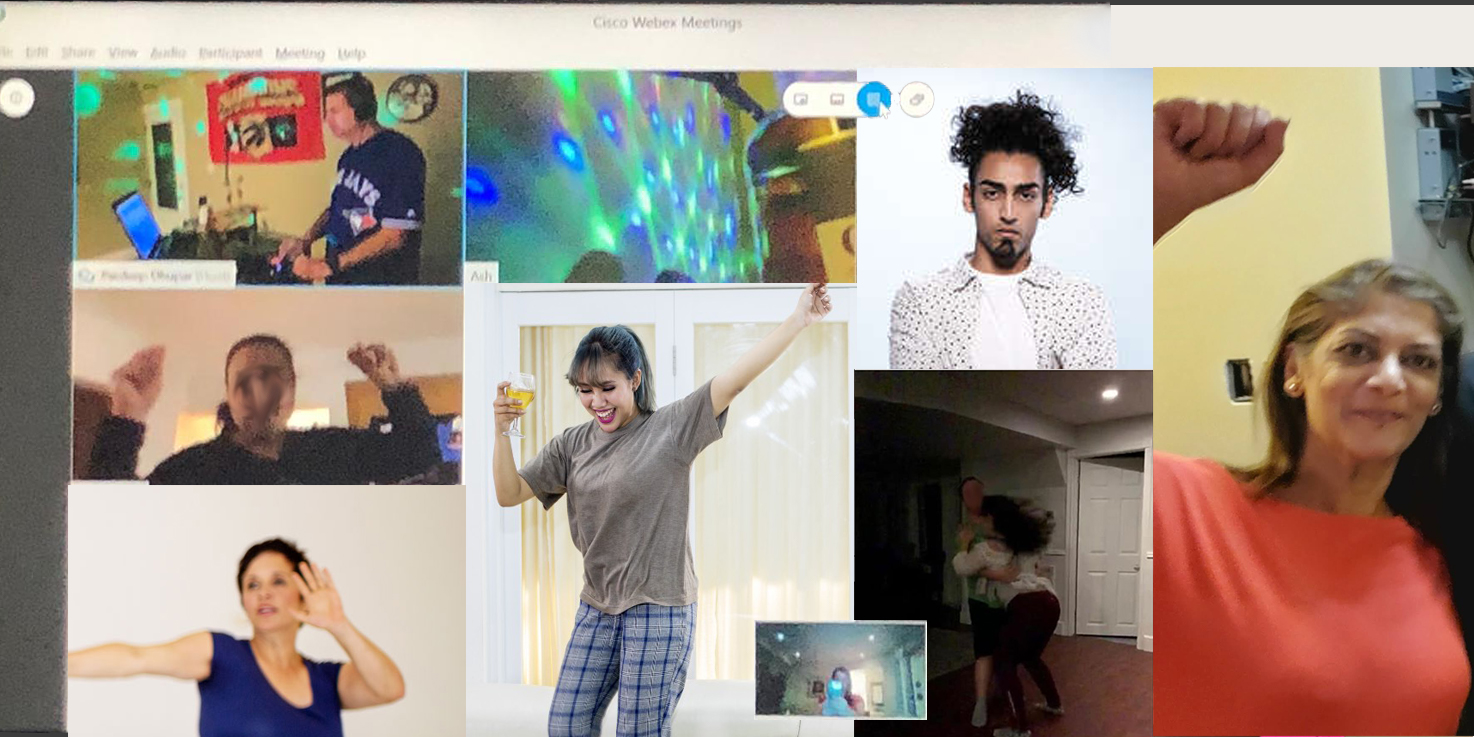 Virtual Dance Party - wide picture